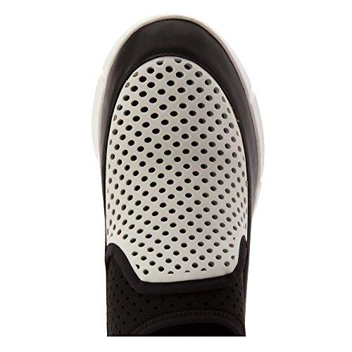 Calvin Klein Winona Cuir Baskets White-Black-Graphite