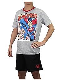 2 PCS Set: Superman Hommes T-shirt et short en coton / Ensemble lounge