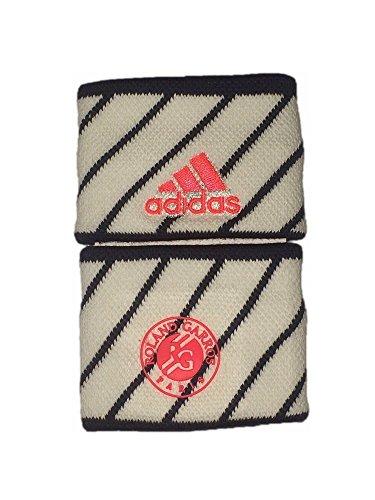 Adidas Wristband Set 2 Tennis Stretch Schweißbänder Garros - Weiß/navy (Navy Schweißbänder)