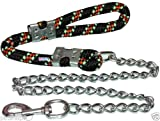 #3: Petshop7 High Quality Stylish Red Nylon Handle Rope Dog Chain -For Large Dogs