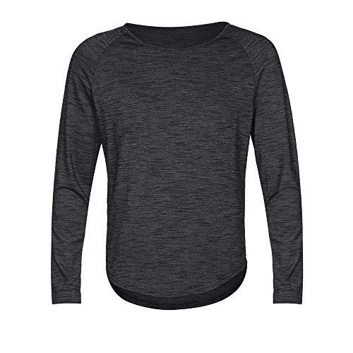 ASHOP Pullover Herren Mode Slim Fit Rundhalsausschnitt Langarm Muscle T-Shirt Casual Dünn Sweatshirt (XXXXL, Schwarz)