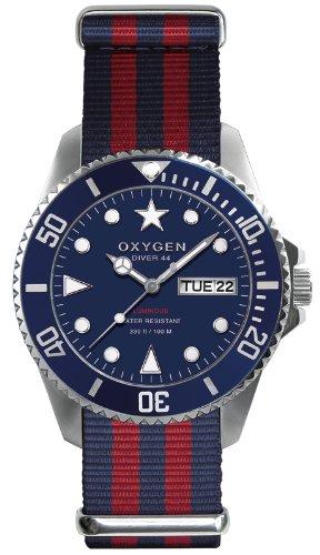 Oxygen EX-D-ADM-44-NARE EX-D-ADM-44 - Reloj analógico de cuarzo unisex, correa de tela multicolor (agujas luminiscentes)