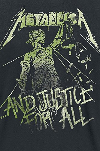 Unbekannt Metallica and Justice For All - Vintage T-Shirt Schwarz Schwarz