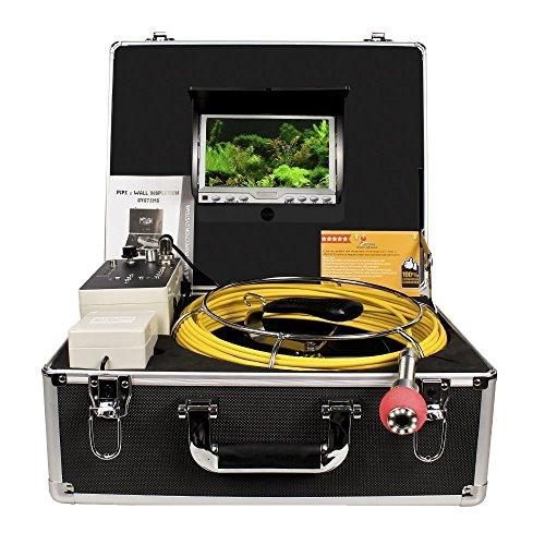 RohrInspektionskamera,AbwasserkanalIndustrieEndoskopAnysunPIC30SchlangenVideoInspektionssystemwasserdichtesIP68mit7ZollLCD-Monitor1000TVLSonyCCD-DVR-Rekorder(inklusive4GBSD-Karte) (Rohr-schlangen)