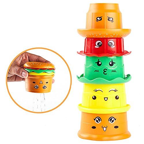 Stapeln Tassen Frühe Pädagogische Kleinkinder Spielzeug Baden Spielzeug mit Lernen Buchstaben Spiel für Kinder Baby