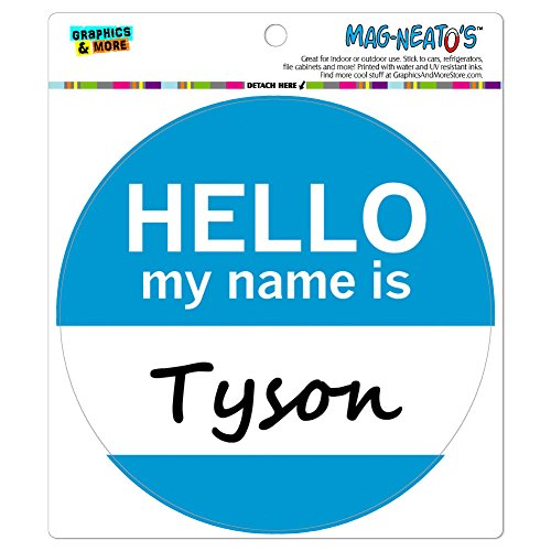 Preisvergleich Produktbild Tyson Hello My Name Is Mag-Neato 's-TM) Automotive Car Kühlschrank Locker Vinyl Magnet