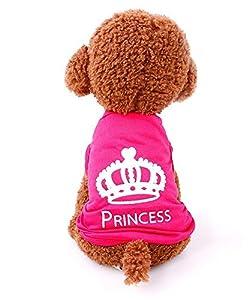 T-Shirt Manteau pour chien Veste pour chien Princess T-shirt Vêtements pour chien Rose