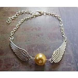 Island Gifts - Harry Potter Argent Vif d'or Bracelet de perles