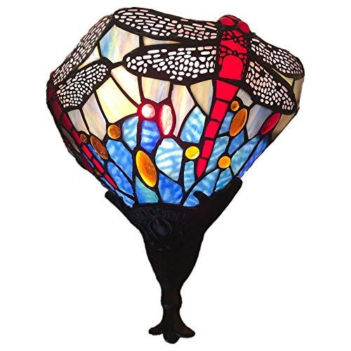 JL-Q Tiffany Retro Wandleuchte Glasmalerei Wandleuchte Europäische 10-Zoll-Libelle Wohnzimmer Gang Wandleuchte