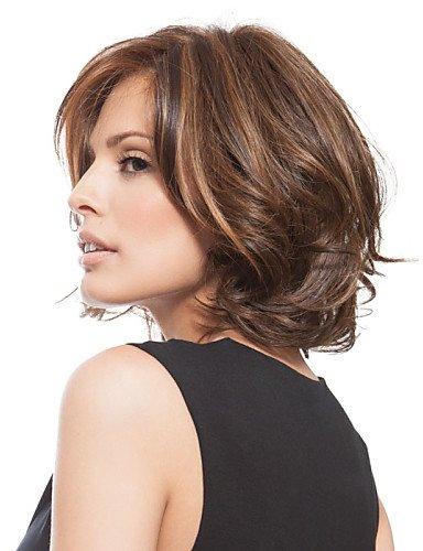 Mode Perücken europäisches Haar Mode capless kurzen gewellten Kunst Highlight Perücke -