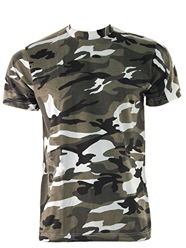 Mens-GAME-Camouflage-Short-Sleeve-Crew-Neck-T-Shirt