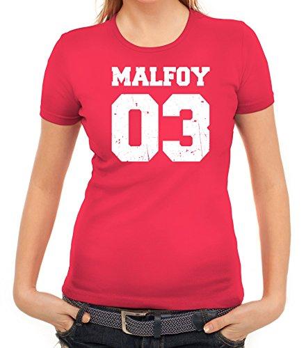Fanartikel Fan Kult Film Trikot Damen T-Shirt Malfoy 03, Größe: M,Pink