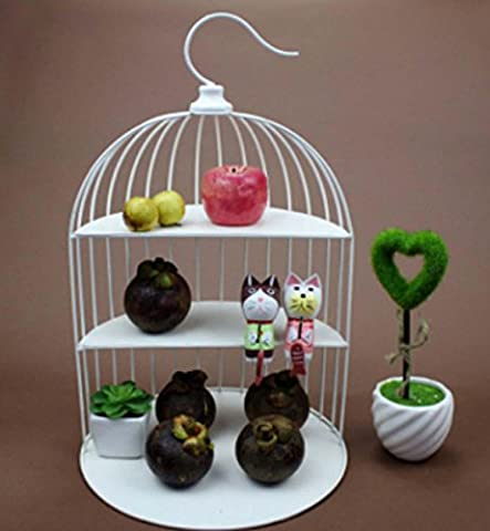 European Bird Cage Three Layers Cake Cake Creative Iron Dessert Afternoon Tea Dessert Wedding Party Gift ,