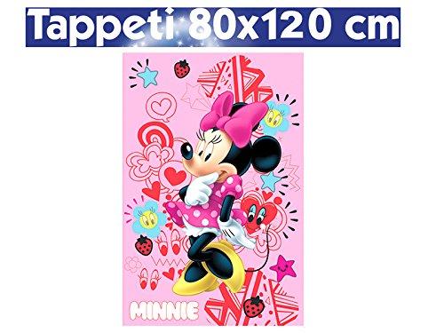 TAPPETO DA CAMERA STAMPA DIGITALE BAMBINA DISNEY 80 x 120 cm MINNIE CAMERETTA