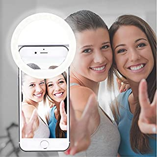 AUTOPkio Selfie Ring Light, 36 LED Light Ring Supplementary Selfie Lighting Night Darkness Selfie Enhancing for Photography for Smart Phones(White)