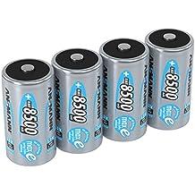 ANSMANN 5035362 maxE 8500 mAh Mono D precargado batería de muy poca descarga 4 Pack