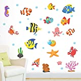 StickMe 'Aquarium Fish Tank Wall Sticker' - SM 394 ( PVC Vinyl - 100cm X 70 Cm )