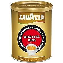 Lavazza Kaffee Qualita Oro, Expreso Arábigo Café Tostado, Granos de Café Molido, 250g Tarro
