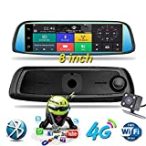 HLKYB Dash Cam 1080P Dual Lens 8 Zoll IPS Touch Screen, Rear View Waterproof Camera 170°Wide Angle with G-Sensor Parking Monitor Motion Detection