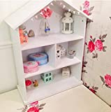 MNII Kinderzimmer Große Regale Bücherregal Massivholz Einfache Landung Großes Haus Modellierung Kombination Bücherregale Requisiten 77 * 120 cm- Schöne Möbel