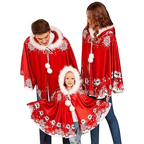 F.lashes Mantel Umhang Weihnachten Elternteil-Kinder kostüm Rotkäppchen Cartoon Santa Claus Schal Familientreffen - Santa Claus Tanz Kostüm