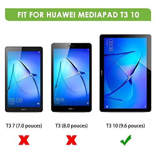 9H Dureza 3 Packs Protector Pantalla Tablet Compatible con Huawei Mediapad T3 10 9.6 Pulgadas, Cristal Templado Tablet Premium apiker Alta Definici/ón