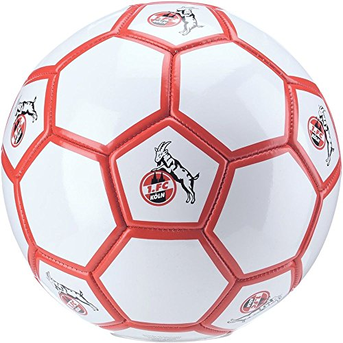 uhlsport Fußball Herren 1. FC Köln Autogrammball Ball Größe 5 Weiß Rot