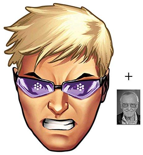 Hawkeye aus Marvel's The Avengers Single Karte Partei Gesichtsmasken (Maske) Enthält 6X4 (15X10Cm) starfoto