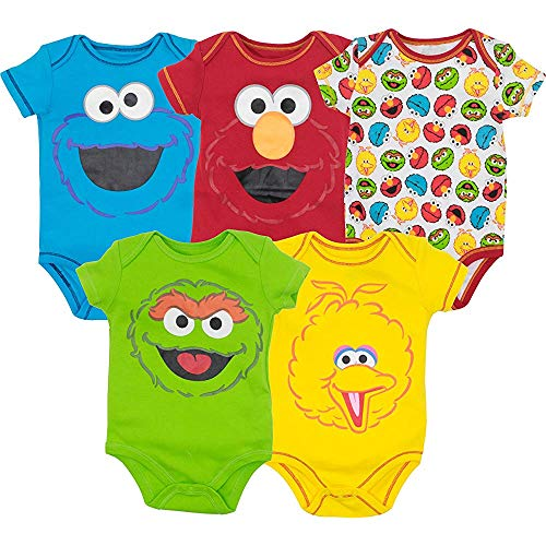 Sesame Street Baby Boy Girl Coverall 5 - ELMO Cookie Monster Oscar and Big Bird 24Months 5 Sesame Street Cookie