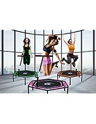 Miweba JUMPNESS Fitness Trampolin Hexagon 48` inklusive Pad 137 cm orange Minitrampolin