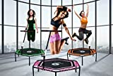 Miweba JUMPNESS Fitness Trampolin Hexagon 48` inklusive Pad 137 cm orange Minitrampolin