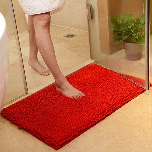 DOTBUY Bad-Teppiche, Chenille Anti-Rutsch-Bequeme Super saugfähiger weicher Duschteppich Dusche Teppich Badematte Bad Teppich (40*60cm, - Natur-badezimmer-teppich