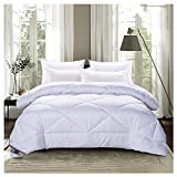 WYUKUAN Steppdecken Bettdecken Warme Winter Extra Dicke Polyesterfaser Poly Luxury Hollow Single Double Quilt, 5 Farben, 3 Größen (Color : White#B, Size : 150X215CM)