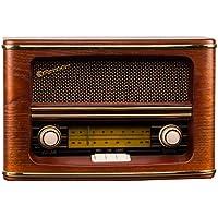 Roadstar HRA-1500 -  Radio (1.5 W RMS, AM/FM, analógico, control de volumen), color marrón