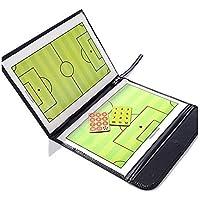 Cartella magnetica pieghevole A-Nam, per le tattiche e le strategie, da allenatore di calcio, con pennarello cancellabile a 2 funzionalità in 1: scrivere e cancellare