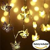 Serie de luces de navidad LED,guirnaldas navideñas para Interiores con Forma de Esfera Marroquí InnoBeta,tira led pilas,Decoración perfecta de Fiestas,Navidad,Bodas,5 accesorios extra para reemplazo.