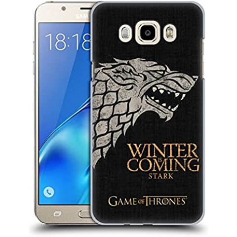 Official HBO Game Of Thrones Stark House Mottos Hard Back Case for Samsung Galaxy J7 (2016)