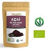 Bacche di Açai Biologiche in Polvere [ Freeze - Dried ] 100 gr. 100% Prodotto in Brasile, Liofilizzato, Crudo ed Estratto dalla Polpa della Bacca di Acai. Superfood Ricco di Antiossidanti e Vitamine.