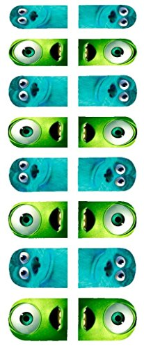 Image of Easy to use Wraps, High Quality Nail Art Decal Stickers For Every Occasion! Ideal Christmas Present, Stocking Filler Monsters Inc