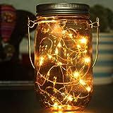 Masrin-Solar-Einmachglas-Deckel, 10LED Mason Jar Solar Mason-Glas, Burn