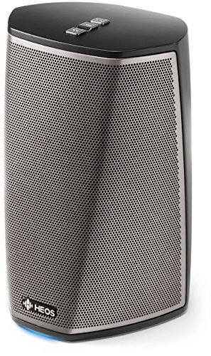 Denon Heos 1 HS2 Diffusore Wireless Amplificato per Streaming Audio da Collegare ad Una Rete Wi-Fi Domestica, Nero