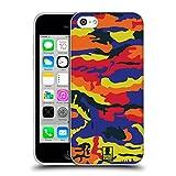 Head Case Designs Rot Und Gelb Farbige Tarnung Soft Gel Hülle für Apple iPhone 5c