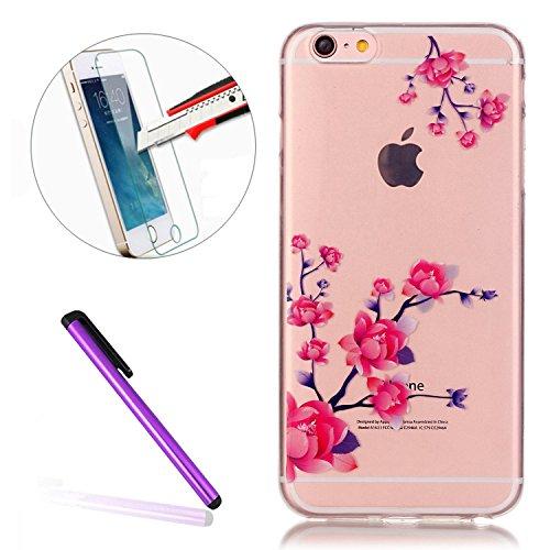 iPhone 7 Plus Clear Transparent Glitzer Case,Glitzer Transparent Hülle für iPhone 7 Plus,iPhone 7 Plus Crystal Clear Hardcase Case Hülle Liquid Gel Schutzhülle Etui für iPhone 7 Plus 5.5 Zoll,EMAXELER Hearts 10