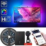 Govee LED TV Hintergrundbeleuchtung, wifi  TV Hintergrundbeleuchtung Kit mit Kamera, TV Led Streifenlichter, Kompatibel mit Alexa, APP gesteuerte Musik Led Streifenlichter für 55-80 Zoll TV