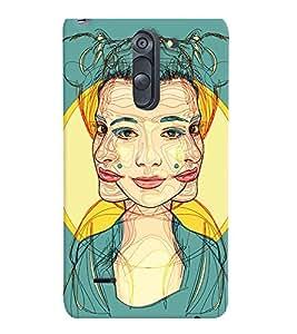 PrintVisa Stylish Cool Girl Modern Art 3D Hard Polycarbonate Designer Back Case Cover for LG G3 STYLUS