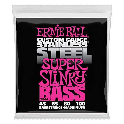Cuerdas eléctricas para bajo Ernie Ball Super Slinky de acero inoxidable -...
