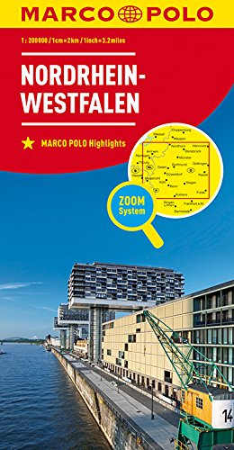 MARCO POLO Karte Deutschland Blatt 5 Nordrhein-Westfalen 1:200 000: Wegenkaart 1:200 000 (MARCO POLO Karten 1:200.000)