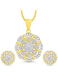 Sukkhi Fashionable Gold And Rhodium Plated Pendant Set With Chain
