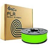 XYZprinting RFPLBXEU0AH Filamento Recambio PLA, 600 gr, 12 Piezas, Verde Neon