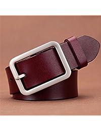 ZHANGYONG Cinturón de Pantalones Vaqueros Simples Femeninos Adorno Puntada  Correa de Cuero Dama Marrón ... 3fc4b1194cc9